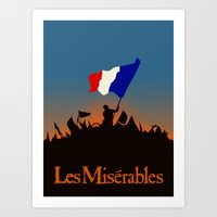 les miserables Art Prints featuring Les Miserables by TheWonderlander