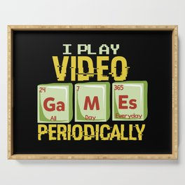 Play Video Games Periodically - All Day Science Illustration Serving Tray