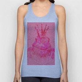 Pink Lotus Frog Queen Print Unisex Tank Top