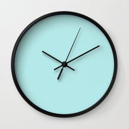 cyan ultra soft pastels Wall Clock