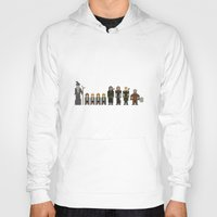 lotr Hoodies featuring 8-bit LOTR The Fellowship of The Ring by MrHellstorm