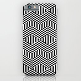 Op art hexagon iPhone Case
