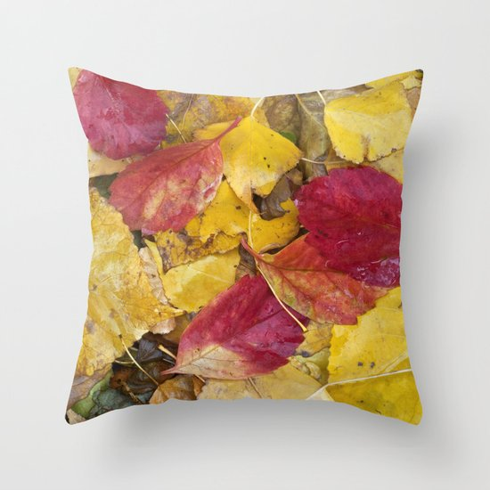 """Rain leaves"" Throw Pillow"