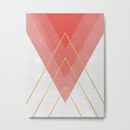 Minimalist pink and gold Metal Print