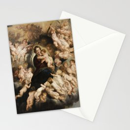 Peter Paul Rubens, Mary with Angel Wreath Stationery Cards