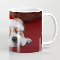 bulldog Mugs featuring Bulldog by Julie Hoddinott