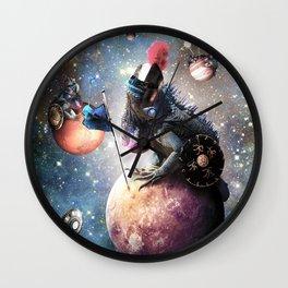 Funny Space Lizard Wall Clock