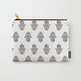 Hamsa Pattern Carry-All Pouch