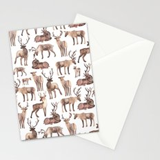 Christmas Reindeer.  Stationery Cards