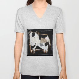 cow Unisex V-Neck