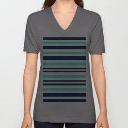 Beautiful Striped , blue , turquoise , white Unisex V-Ausschnitt