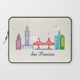 what a colorful city San Francisco, CA.  Laptop Sleeve