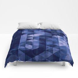 Blue Geo Comforters