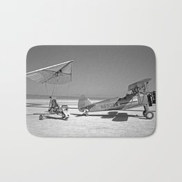 Paresev 1-A on Lakebed with Tow Plane Bath Mat