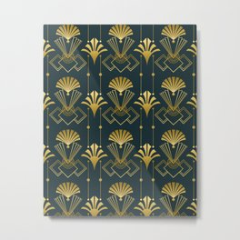 Art Deco Golden Elegance Metal Print