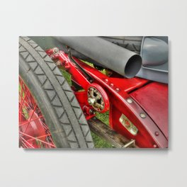 Vintage Car Rear Quarter Metal Print