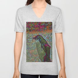 Abstract Penguin Unisex V-Neck
