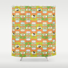 mabo & jimmy garden orange 2 Shower Curtain