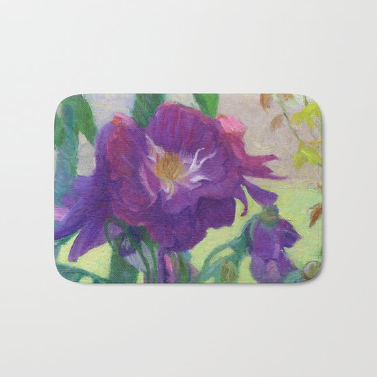 Purple Roses Bath Mat