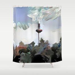 TV Tower of Frankfurt Shower Curtain