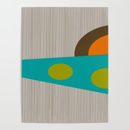 Abstract Mid-Century Poster