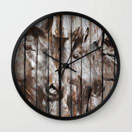 Three Horses Wall Clock