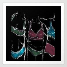 3  women  3 bodies - Negative  Art Print