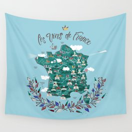 Map of french vineyards Wall Tapestry