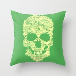 Clip Art Skull Throw Pillow
