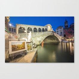 Rialto Bridge Twylight Canvas Print