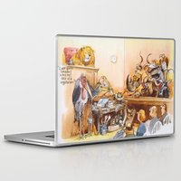 vegetarian Laptop & iPad Skins featuring vegetarian face by Rose Rigden
