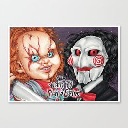 We want to play a game Canvas Print