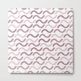 Geometrical abstract girly mauve blush pink pattern Metal Print