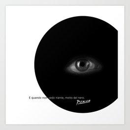 Black Eye Art Print