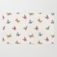 butterflies Area & Throw Rugs featuring Butterflies by Tracie Andrews