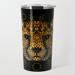 Cheetah Face Travel Mug