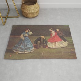 Croquet Scene 1864 By WinslowHomer | Reproduction Rug