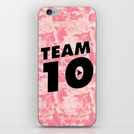 Team 10 Pink Camo iPhone Skin