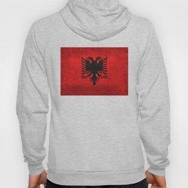"National flag of Albania - in ""Super Grunge"" Hoody"