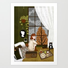 quiet morning Art Print