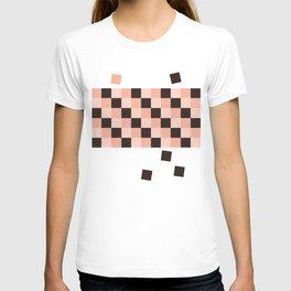 pink & black T-shirt