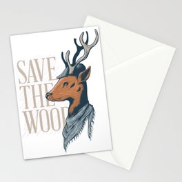 An Unique and Attractive Classy Deer Graphic Design Stationery Cards