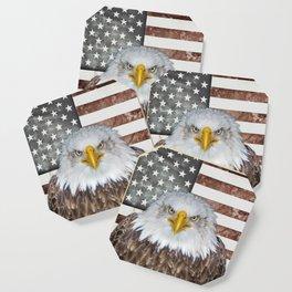 American Bald Eagle Patriot Coaster