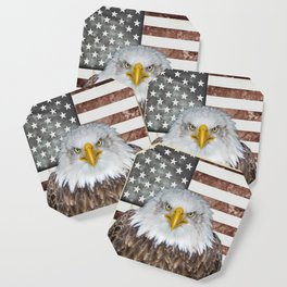American Bald Eagle Patriot Coaster
