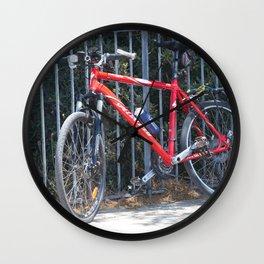 red bike Wall Clock