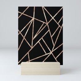 Classic Black Rose Gold Geo #1 #geometric #decor #art #society6 Mini Art Print