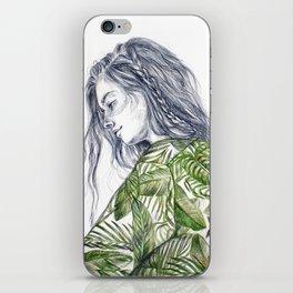 Tropical Palm Print Portrait iPhone Skin