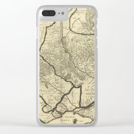Vintage Map of Ukraine (1696) Clear iPhone Case