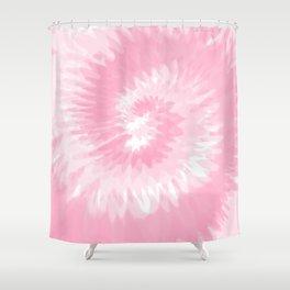 Pastel Pink Tie Dye  Shower Curtain