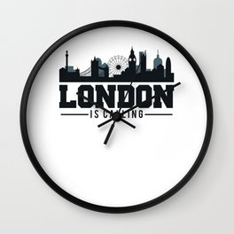 London Is Calling - London UK Skyline Wall Clock